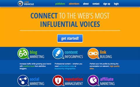 Screenshot of Home Page linkvehicle.com - LinkVehicle | Blog Marketing - captured Sept. 18, 2014