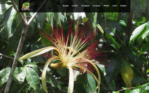 Screenshot of Home Page guides-guyane.com - Compagnie des guides de Guyane - captured Oct. 16, 2015