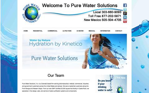 Screenshot of Team Page purewatersolutions.us - Our Team | Pure Water Solutions - captured Sept. 30, 2014