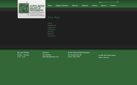 Screenshot of Site Map Page josephsaxton.com - Joseph Saxton Gallery of Photography: Site Map - captured Oct. 20, 2018