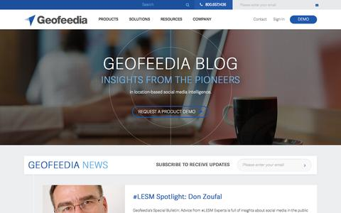Screenshot of Blog geofeedia.com - Insights from the Leaders in Location-based Social Media Search - Geofeedia - captured July 3, 2015