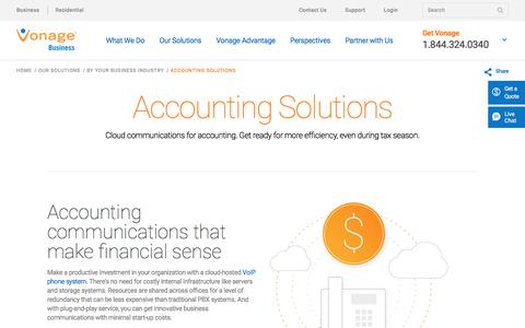 Accounting Solutions | Vonage Business