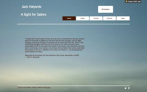 Screenshot of Menu Page jackhalyards.com - jack-halyards - captured Oct. 8, 2014