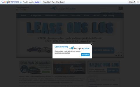 Screenshot of Home Page autoponlease.nl - Home » Autopon Lease - 's-Hertogenbosch - captured Oct. 4, 2014