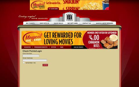 Screenshot of Login Page marcustheatres.com - Marcus Theatres - Marcus Theatres - captured Sept. 19, 2014