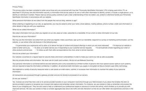 Screenshot of Privacy Page freshagency.com - Fresh Agency Privacy Policy - captured Nov. 25, 2016