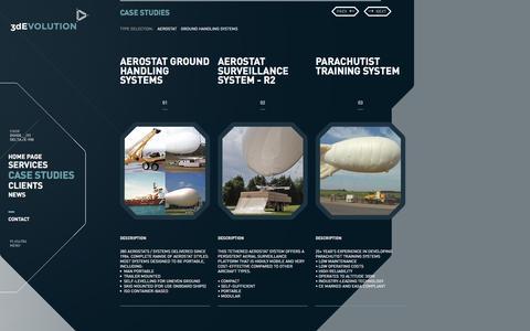 Screenshot of Case Studies Page 3de.co.uk - Case studies - 3D Evolution - captured March 31, 2016