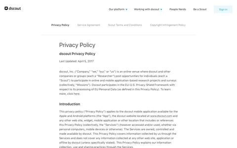Privacy Policy | dscout
