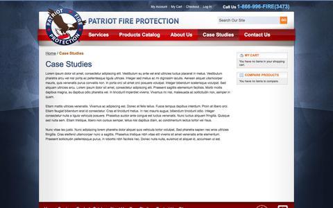 Screenshot of Case Studies Page patriotfireinc.com - Case Studies - captured July 16, 2017