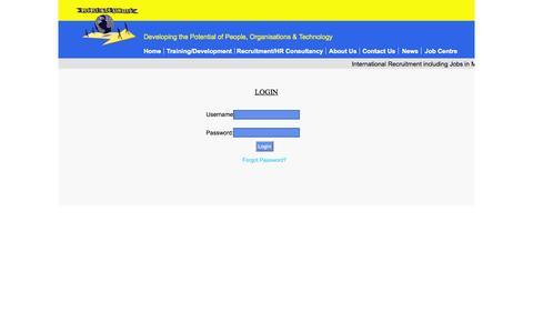 Screenshot of Login Page people.com.mt - People & Co Management - captured Nov. 1, 2014