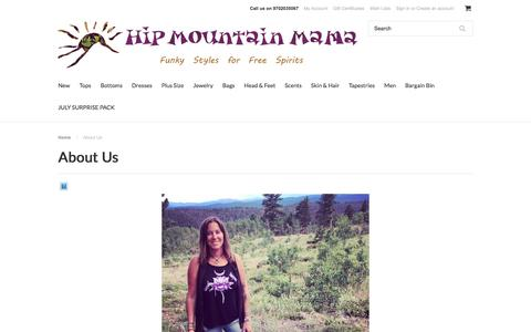 Screenshot of About Page hipmountainmama.com - About Us | Online Hippie Store | Boho Clothing Store - Hip Mountain Mama - captured July 15, 2016