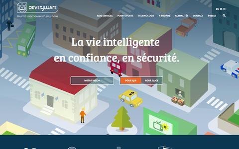 Screenshot of Home Page deveryware.com - Deveryware | Accueil - Deveryware - captured Nov. 10, 2015