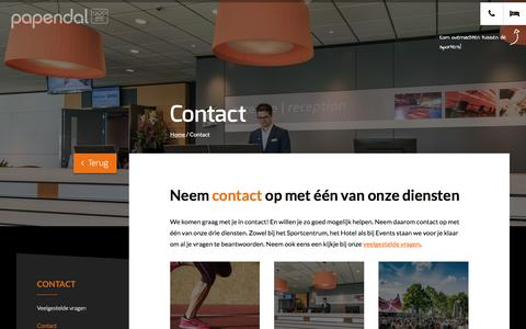 Screenshot of Contact Page papendal.nl - Contact - Papendal - captured Nov. 13, 2016
