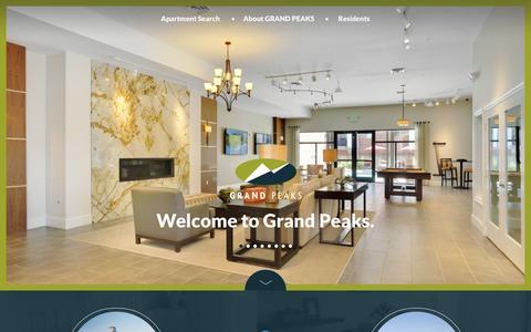 Screenshot of Home Page grandpeaks.com - Grand Peaks - captured Dec. 12, 2015
