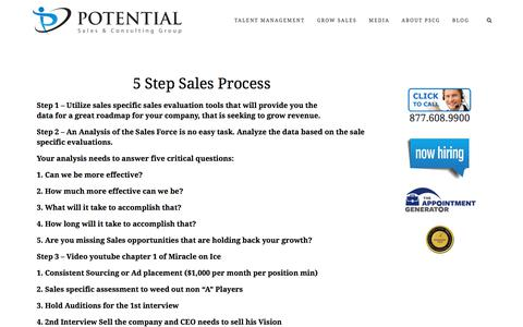 5 Step Sales Process – Potential Sales and Consulting Group