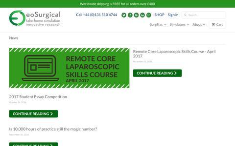 Screenshot of Press Page eosurgical.com - News - eoSurgical - captured Nov. 16, 2016