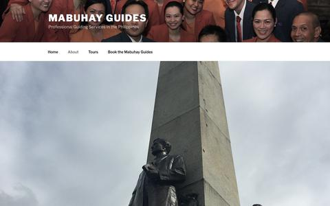 Screenshot of About Page wordpress.com - About the Mabuhay Guides – Mabuhay Guides - captured Dec. 6, 2017