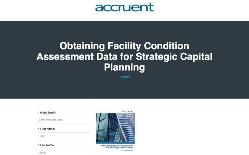 Obtaining Facility Condition Assessment  Data for Strategic Capital Planning