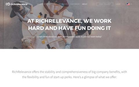 Screenshot of Jobs Page richrelevance.com - Careers at RichRelevance - captured May 3, 2017