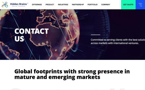 Contact Us | Global Contacts & Offices of Hidden Brains