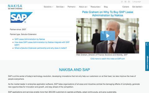 SAP | Solution Extension | Tier 1 Partnership | Nakisa