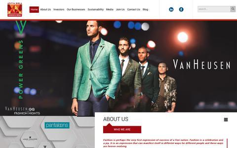 Screenshot of Home Page madurafnl.com - Aditya Birla Fashion and Retail Ltd (Formerly known as Pantaloons Fashion and Retail Ltd.) > Home - captured Sept. 22, 2018