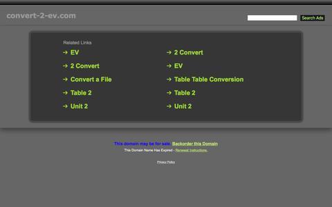 Screenshot of Home Page convert-2-ev.com - Convert-2-Ev.com - captured Sept. 16, 2016