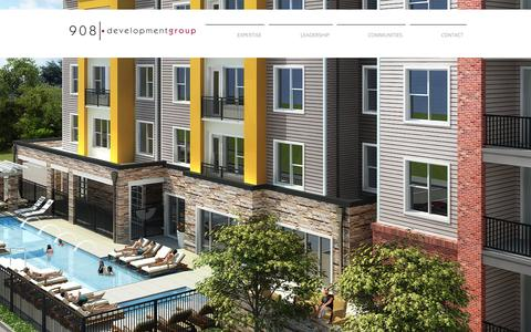 Screenshot of Home Page 908development.com - 908 Development Group - captured Feb. 27, 2016