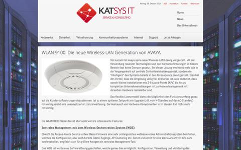 Screenshot of Press Page katsys-it.at - katsys-it.at - News - captured Oct. 6, 2014