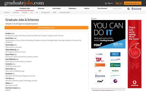 Screenshot of Locations Page graduate-jobs.com - Graduate Jobs & Schemes | graduate-jobs.com - captured Oct. 12, 2019