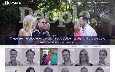 Screenshot of Team Page deeson.co.uk - People | Deeson - captured Oct. 29, 2014