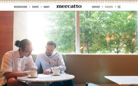 Screenshot of Jobs Page mercatto.ca - Mercatto - captured Nov. 15, 2018