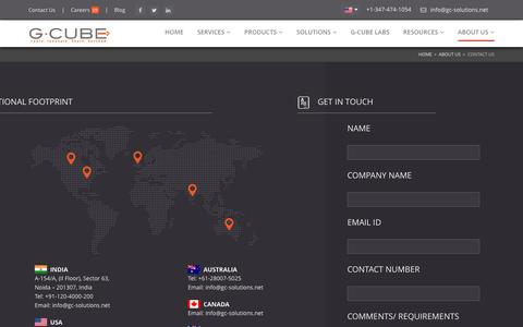 Screenshot of Contact Page gc-solutions.net - Contact Us - captured Jan. 24, 2016