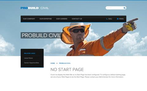 Screenshot of Home Page probuildcivil.com.au - ProBuild Civil - captured Jan. 8, 2016