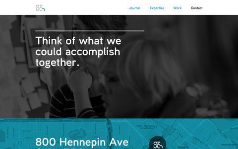 Screenshot of Contact Page azul7.com - Azul 7: Design Thinking | Human-Centered Design | User Experience (UX) - captured Sept. 30, 2014