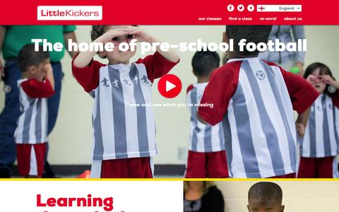 Screenshot of Home Page littlekickers.co.uk - Toddler football training and development for children 18 months to 7 years at Little Kickers - captured Sept. 19, 2014
