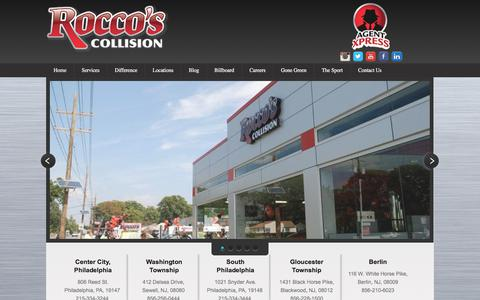 Screenshot of Home Page roccoscollision.com - Auto Body Shop | Collision Repair | Rocco's Collision - captured Oct. 22, 2017
