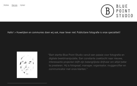 Screenshot of About Page bluepointstudio.be - Over ons — juwelen en uurwerken - captured Aug. 2, 2018
