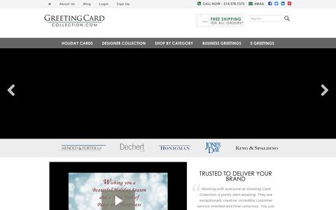 Screenshot of Home Page greetingcardcollection.com - Greeting Card Collection | Business greeting cards, Holiday cards, corporate holiday cards, and more. - captured Jan. 27, 2015
