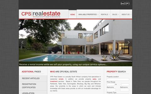 Screenshot of Home Page cpsrealestate.co.za - CPS Real Estate - captured Oct. 1, 2014