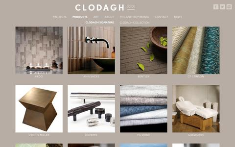 Screenshot of Products Page clodagh.com - Products - Clodagh Design - captured Feb. 18, 2018