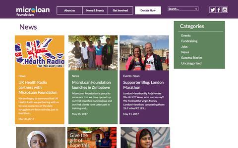 Screenshot of Press Page microloanfoundation.org.uk - News - captured June 10, 2017