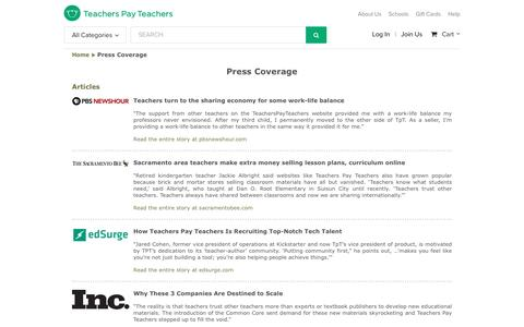 Press Coverage | Teachers Pay Teachers