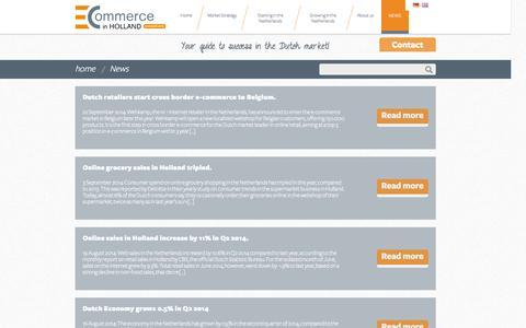 Screenshot of Press Page ecommerceinholland.com - News | E-Commerce in Holland - captured Sept. 26, 2014