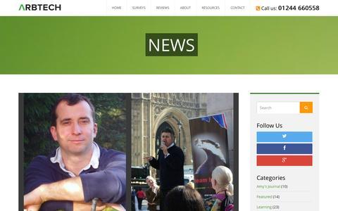 Screenshot of Press Page arbtech.co.uk - News Archives - Arbtech - captured Nov. 2, 2014
