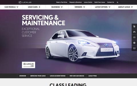 Lexus Servicing & Maintenance | Lexus UK