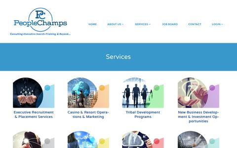 Screenshot of Services Page peoplechamps.com - Services | PeopleChamps - captured Oct. 27, 2014