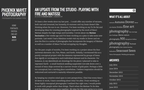 Screenshot of Blog phoenixmayet.com - Phoenix Mayet Photography | Photography for curious types - captured Oct. 2, 2014