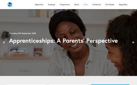 Screenshot of Press Page 3aaa.co.uk - News - 3aaa Apprenticeships - captured Oct. 19, 2018