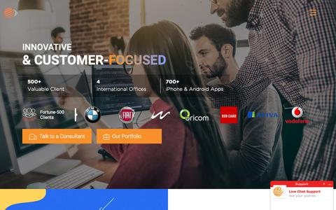 Screenshot of Home Page octalsoftware.com - Offshore IT Services | Software Development Company - Octal IT Solution - captured April 1, 2019